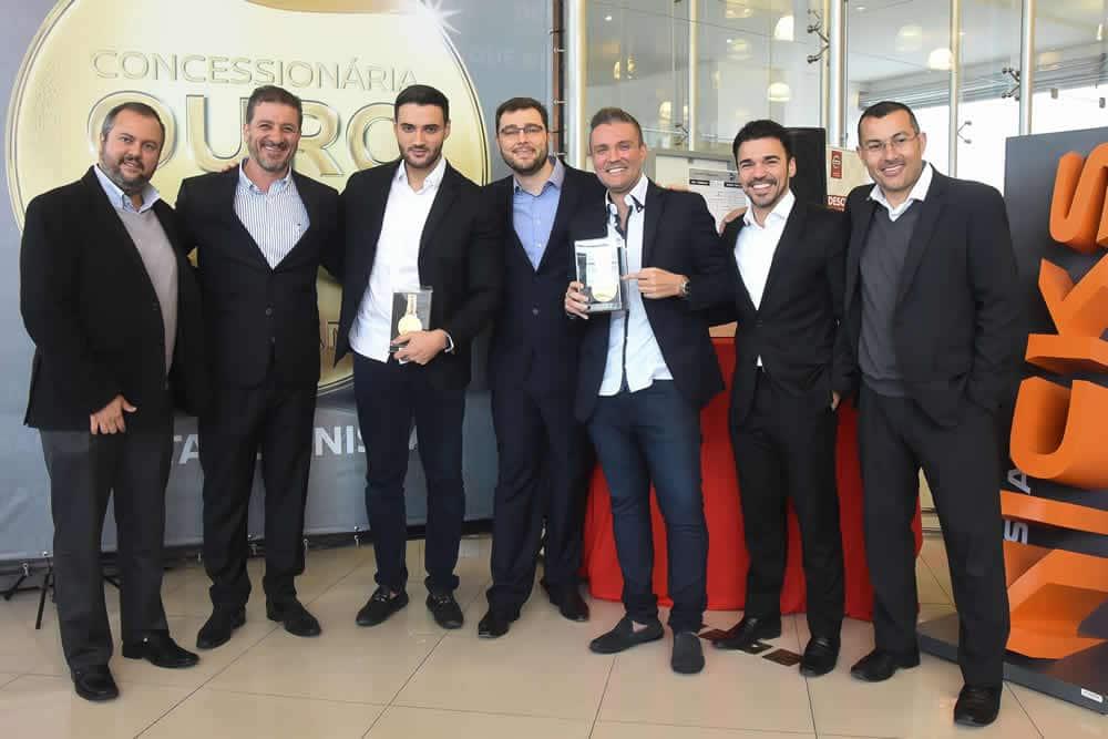 Equipe Destaque Nissan durante premiação de qualidade