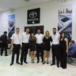 Equipe Toytoa durante coquetel de lançamento do Yaris