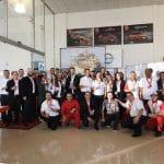 Equipe Nissan durante premiação